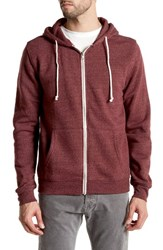 Threads For Thought Trim Fit Heathered Hoodie Oxblood