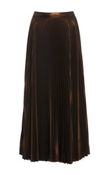A.L.C. Bobby Pleated Midi Skirt Gold
