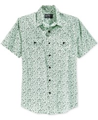 American Rag Men's Geometric Pattern Short Sleeve Shirt Only At Macy's Whisper Jade