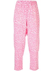 Marni Cropped Tapered Trousers Pink
