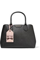 Karl Lagerfeld Lady Shopper Textured Leather Tote Black