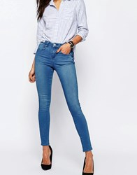 Asos 'Sculpt Me' Premium Jeans In Kelly Bright Blue Wash Kelly Blue