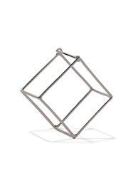 Shihara 18Kt White Gold 3D 20Mm Square Earring Unavailable