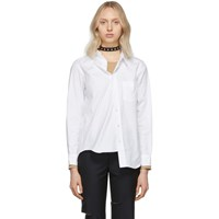 Junya Watanabe White Oxford Asymmetrical Shirt