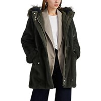 Lilly E Violetta Mink Fur Parka Green