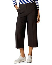 Karen Millen Wide Leg Cropped Pants Navy