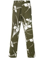 N 21 No21 Floral Print Cropped Trousers Green