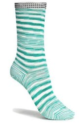 Missoni Striped Knitted Socks Green