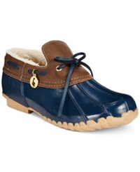 Sporto Pamela Waterproof Duck Booties Women's Shoes Navy