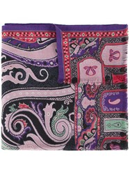 Etro Floral And Paisley Scarf Pink And Purple