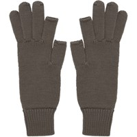 Rick Owens Grey Touchscreen Gloves
