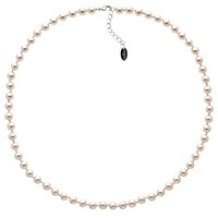 Finesse Glass Pearl Necklace Pink