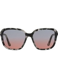 Prada Eyewear Square Frame Sunglasses Grey