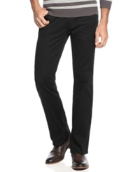 Alfani Pants 5 Pocket Slub Twill Pants Black