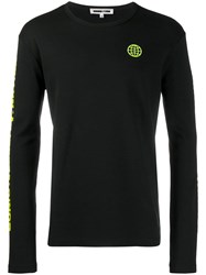 Mcq By Alexander Mcqueen Long Sleeve Fitted Sweater Black