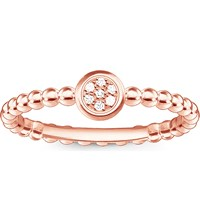 Thomas Sabo Glam And Soul 18Ct Rose Gold Plated Diamond Ring