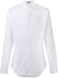 Christian Dior Homme Embellished Collar Shirt White