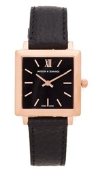 Larsson And Jennings Norse Watch Rose Gold Black