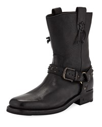John Varvatos Berlin Leather Harness Boots Black