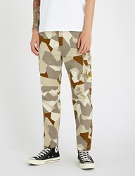 A Bathing Ape Splinter Camouflage Cotton Drill Cargo Trousers Beige