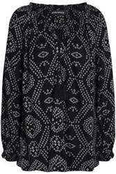 Antik Batik Printed Crepe Blouse Black