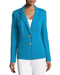 St. John Collection Mod Pique Knit Jacket With Pockets Capri