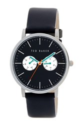 Ted Baker Men's Smart Casual Leather Strap Watch Black