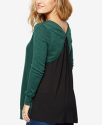 A Pea In The Pod Maternity Cross Back Sweater Deep Ivy