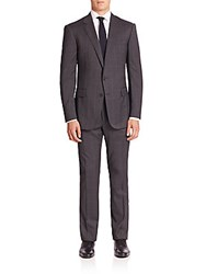 Polo Ralph Lauren Purple Label Classic Fit Windowpane Wool Suit Grey Black