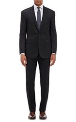 Ralph Lauren Black Label Glen Plaid Two Button Anthony Suit Black Size