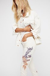 Free People Chinoiserie Reagan Raw Jean By