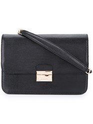 Cerruti 1881 Fold Over Cross Body Bag Women Calf Leather One Size Black