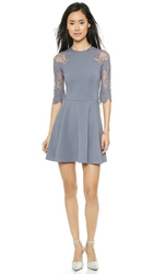 Bb Dakota Yale Fit And Flare Dress Grey