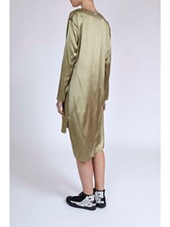 Alexis Mabille Silk V Neck Dress Neutral