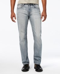 Inc International Concepts Men's Anton Slim Straight Jeans Only At Macy's Light Wash