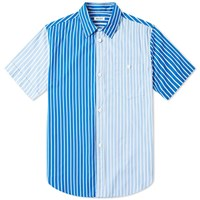 Kenzo Short Sleeve Multi Stripe Shirt Blue