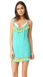 Bindya Boho Tassels Cover Up Dress Teal