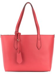 Burberry Medium Reversible Tote Women Leather One Size Red