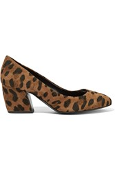 Pierre Hardy Calamity Leopard Print Suede Pumps
