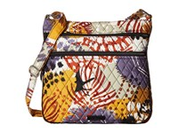 Vera Bradley Triple Zip Hipster Painted Feathers Cross Body Handbags Multi