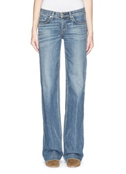 Rag And Bone 'Wide Leg' Brick Lane Wash Jeans Blue