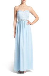 Women's Speechless 'Sally' Embellished Strapless Gown
