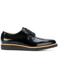 Common Projects Classic Derby Shoes Leather Patent Leather Rubber Black