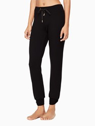 Kate Spade Modal Terry Relaxed Bow Long Sweatpants Black