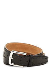 Cole Haan Perforated Trim Dress Belt Black