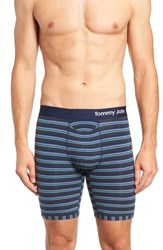 Tommy John Cool Cotton Boxer Briefs Maui Blue
