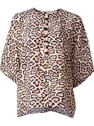Givenchy Leopard Print Blouse Nude And Neutrals