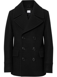 Burberry Wool Blend Pea Coat Black