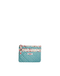 Cath Kidston Quilted Double Zip Purse In Mini Dot Print Minidot