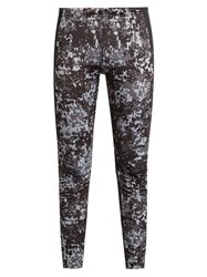 Peak Performance Camouflage Print Base Layer Ski Leggings Grey Multi